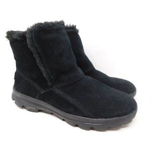 Skechers On The Go Black Suede Winter Boots 7